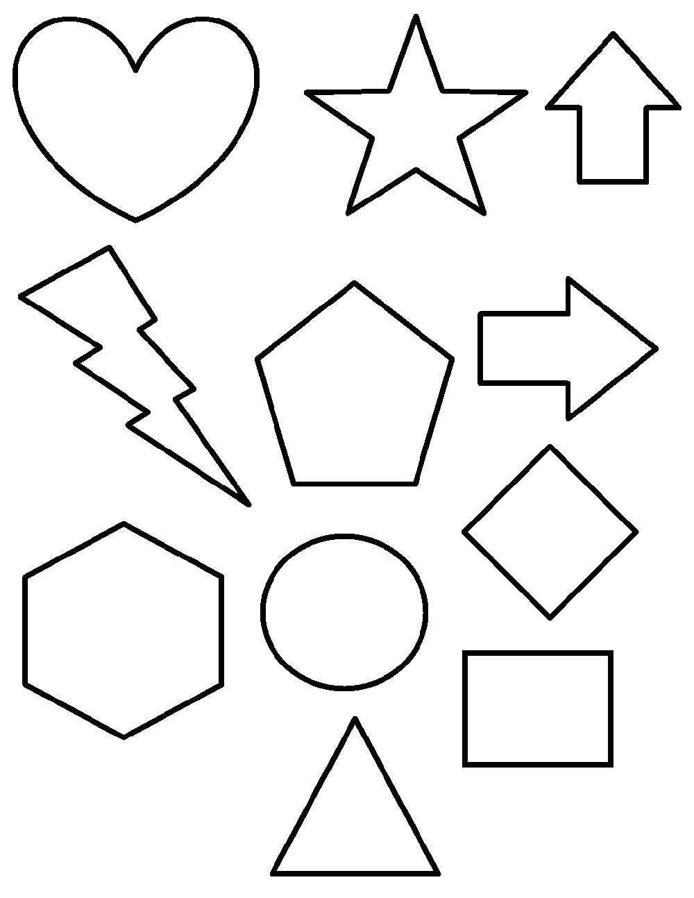 shapes coloring pages 1