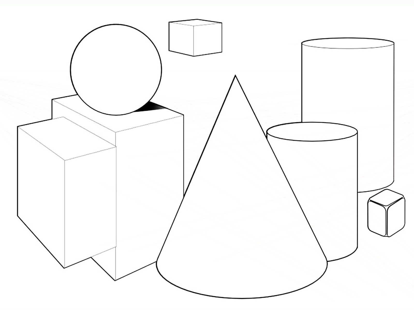 shapes coloring pages 5