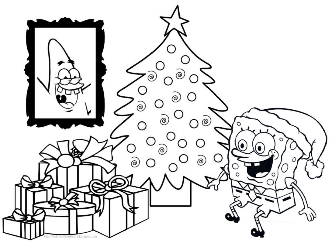 spongebob christmas coloring pages 4