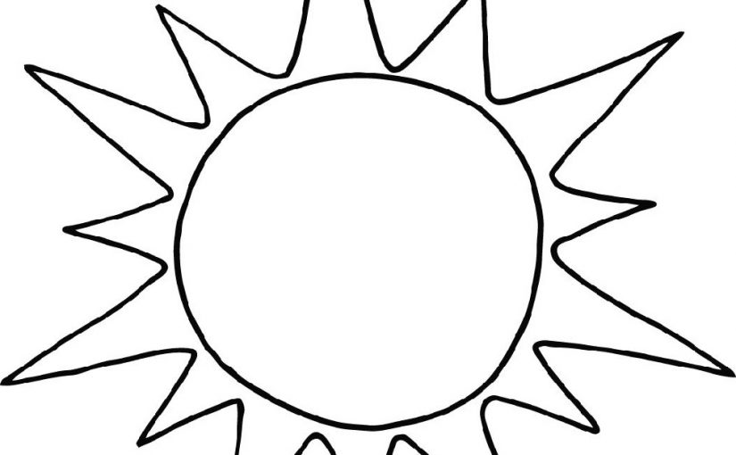 sun coloring page 1