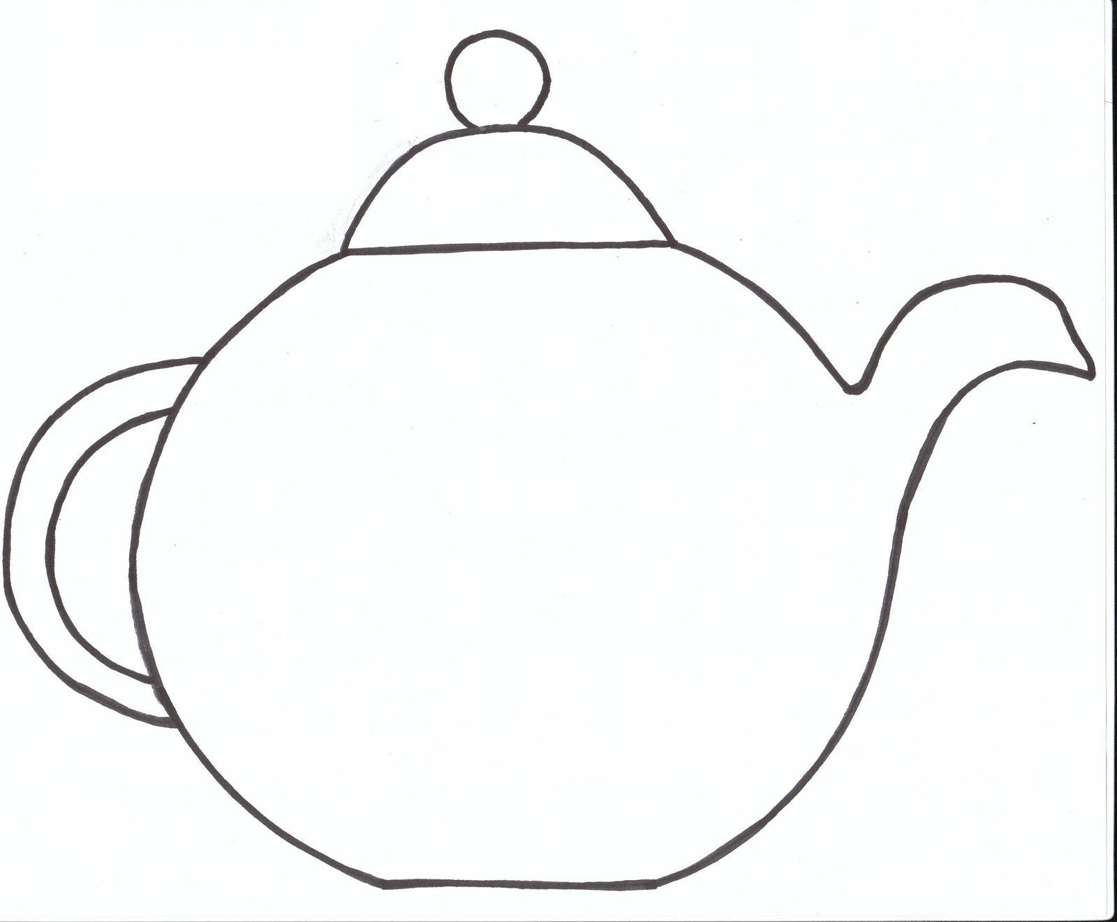 teapot coloring page 1