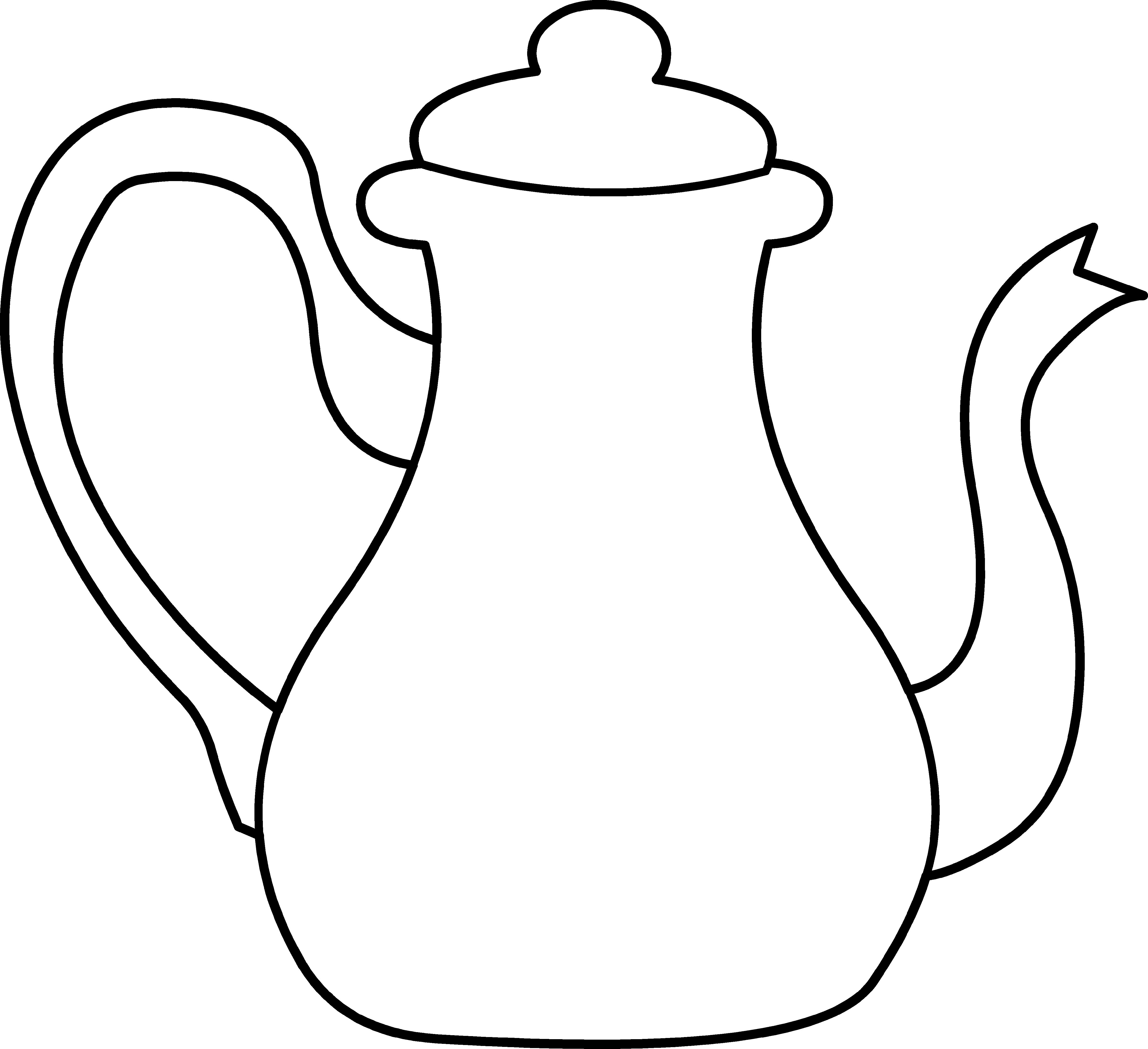teapot coloring page 2