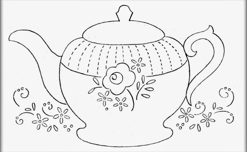 teapot coloring page 3