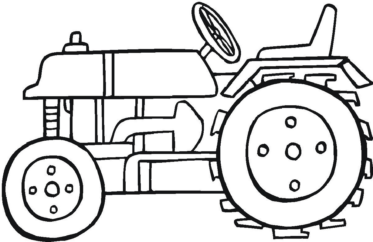 tractor coloring pages 1