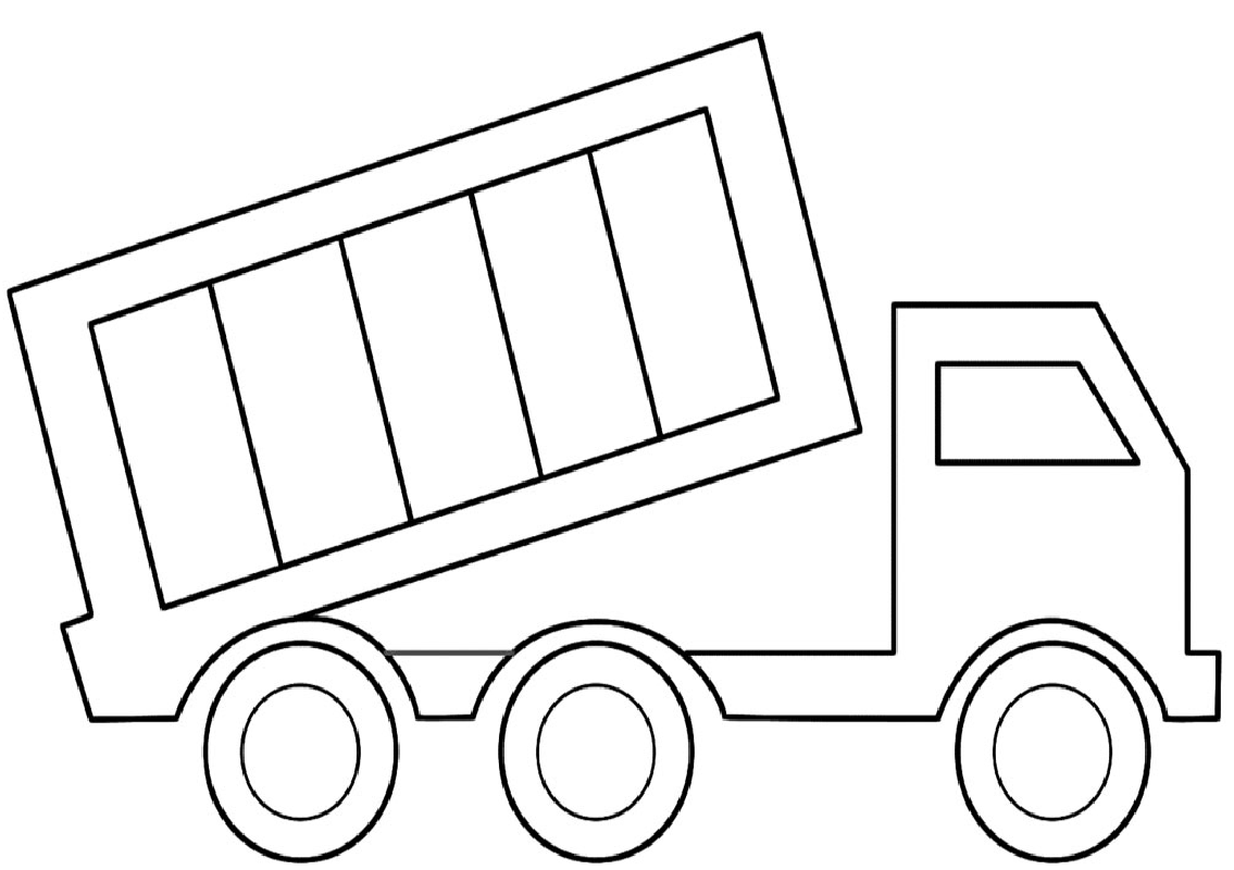 truck coloring pages dump