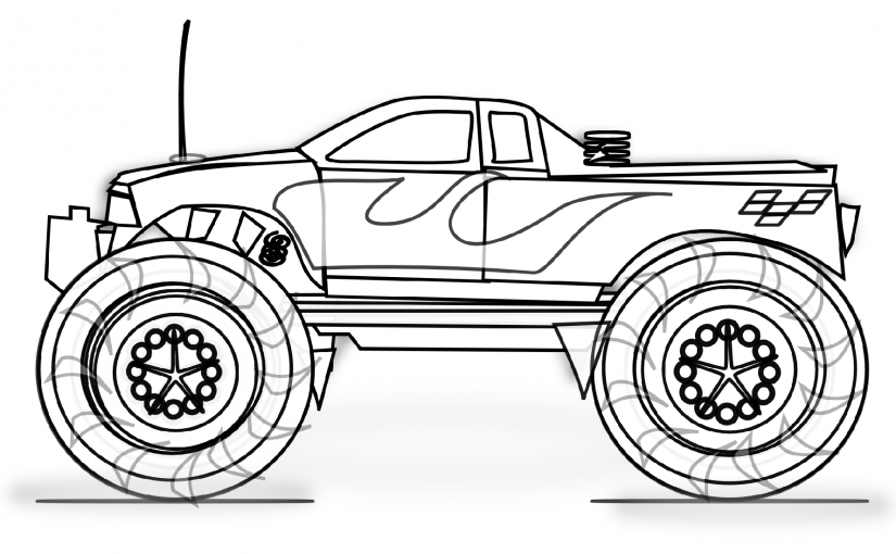 truck coloring pages mini