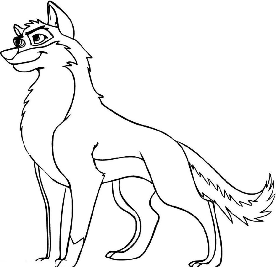wolf coloring pages 5
