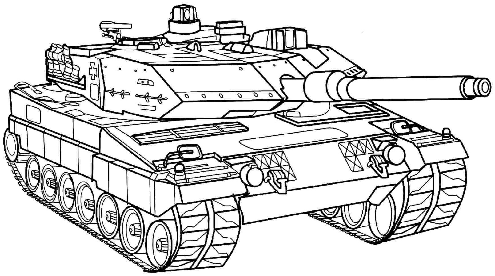 Army tank coloring pages 1