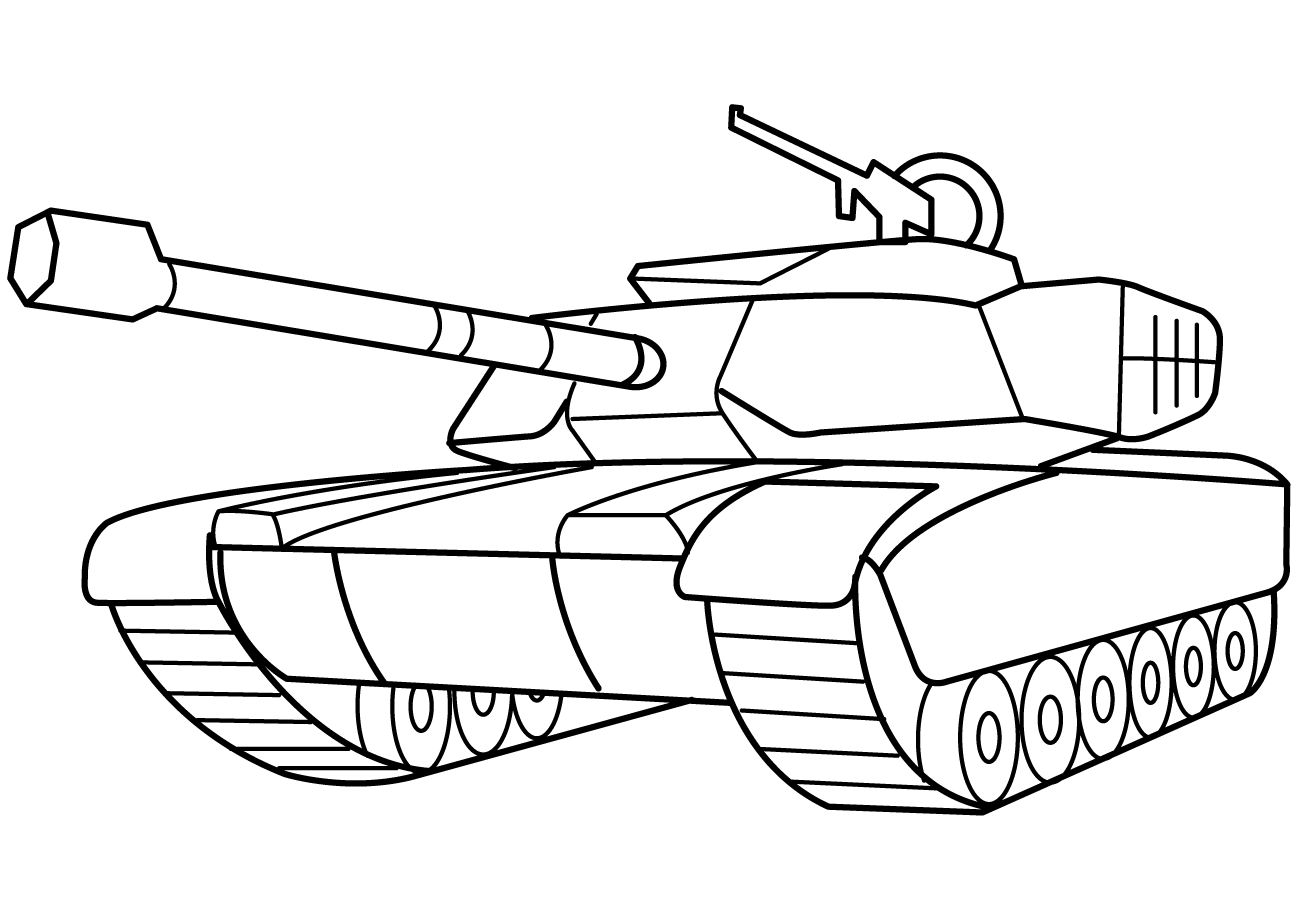 Army tank coloring pages 2