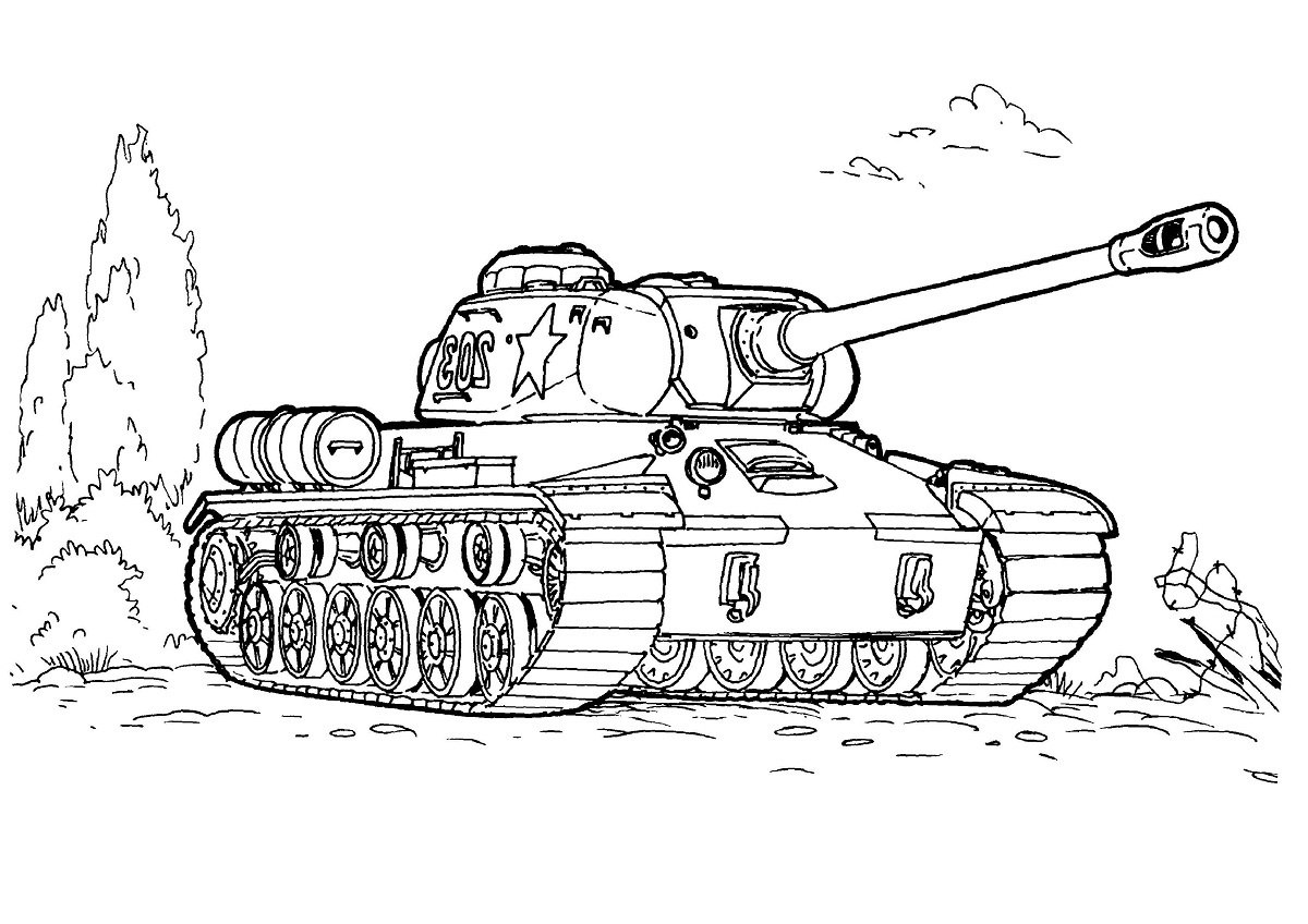 Army tank coloring pages 4