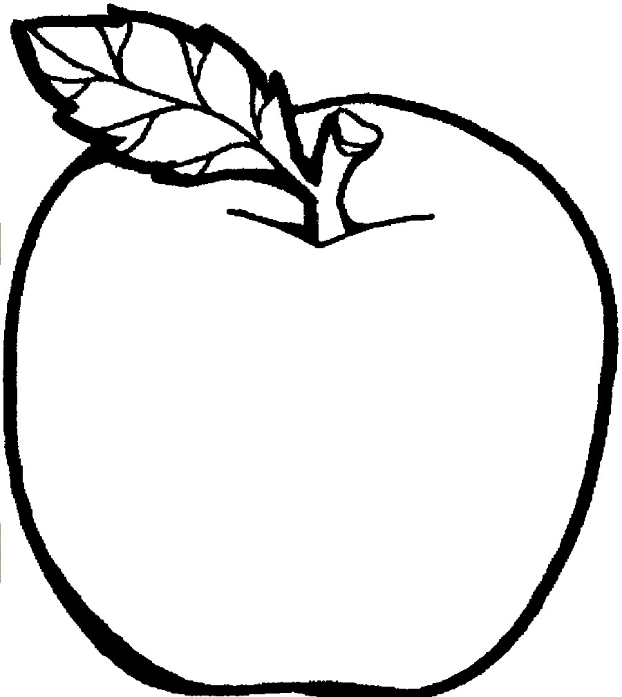 apple coloring pages 1