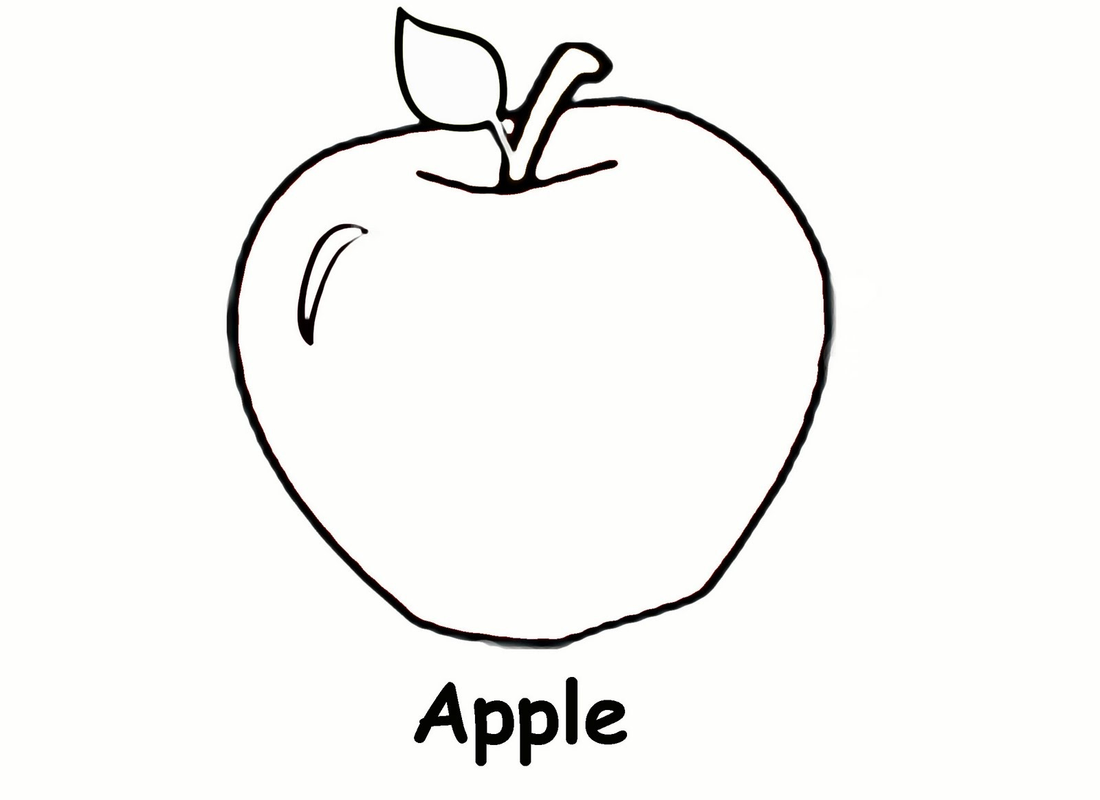 apple coloring pages 3