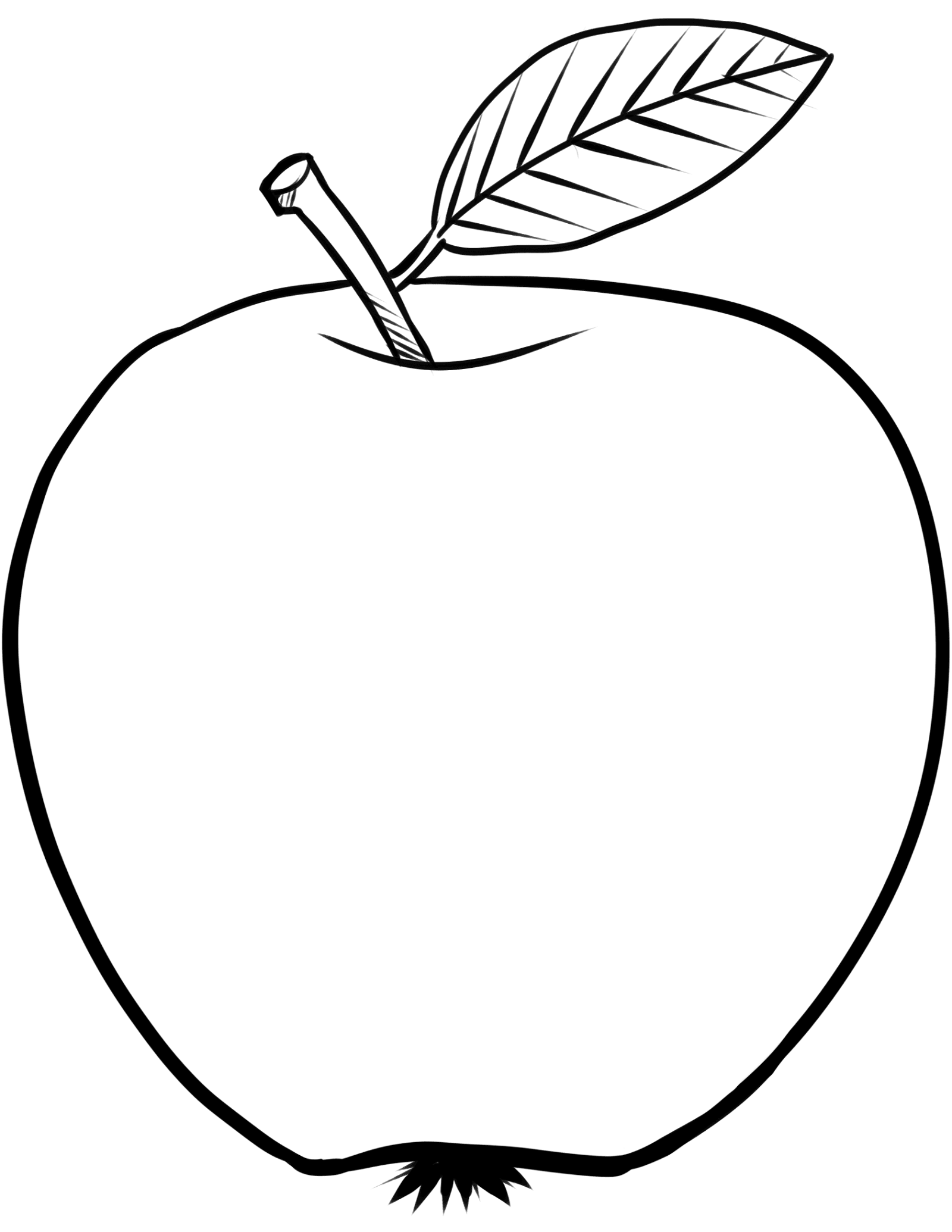 apple coloring pages 5
