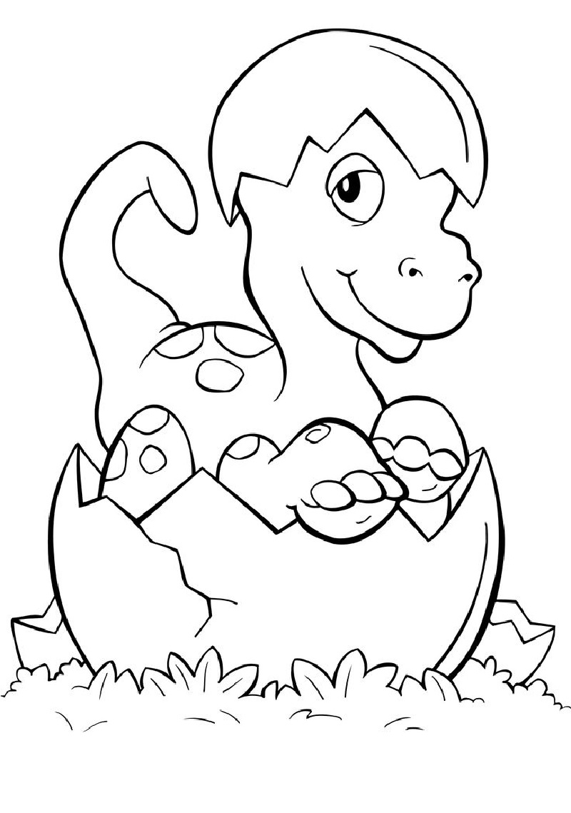 baby dinosaur coloring pages 4