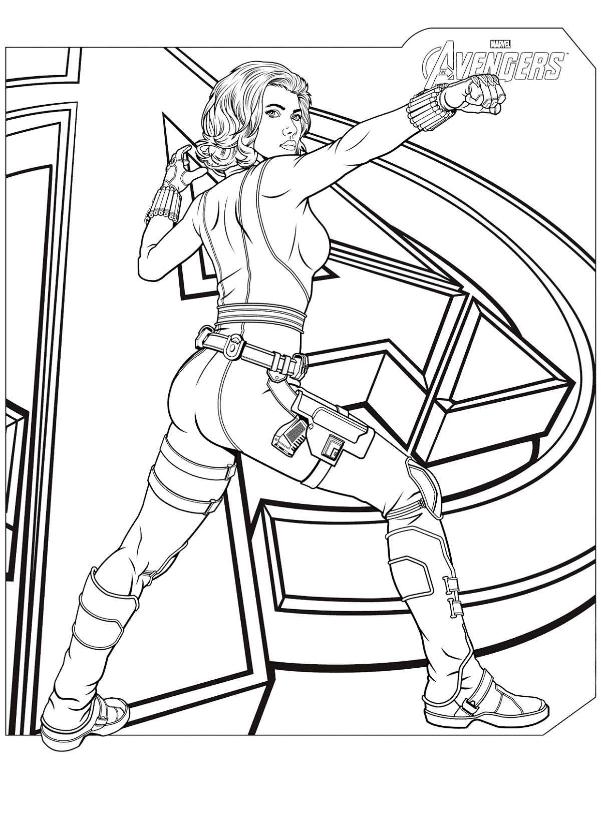 black widow coloring pages 1