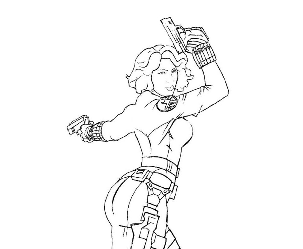 black widow coloring pages 2