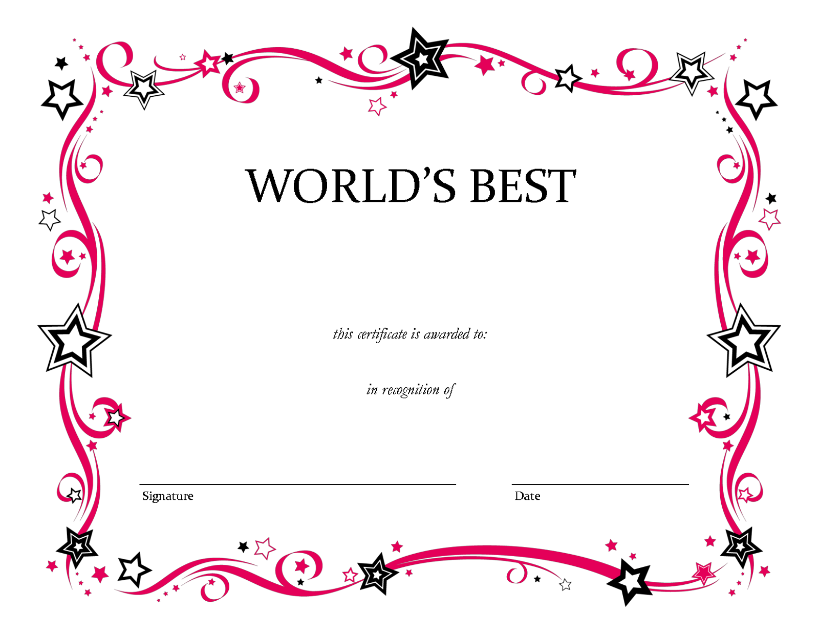 blank certificate templates 2