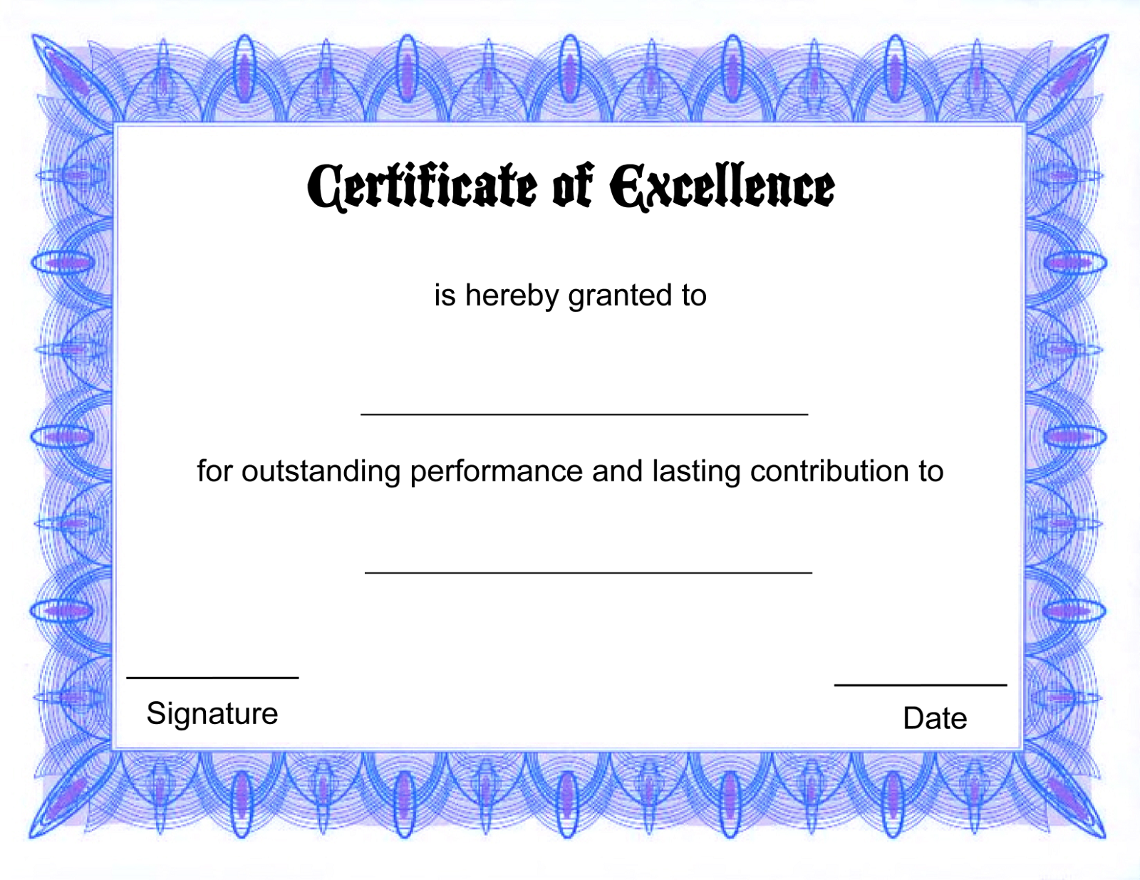 blank certificate templates 3