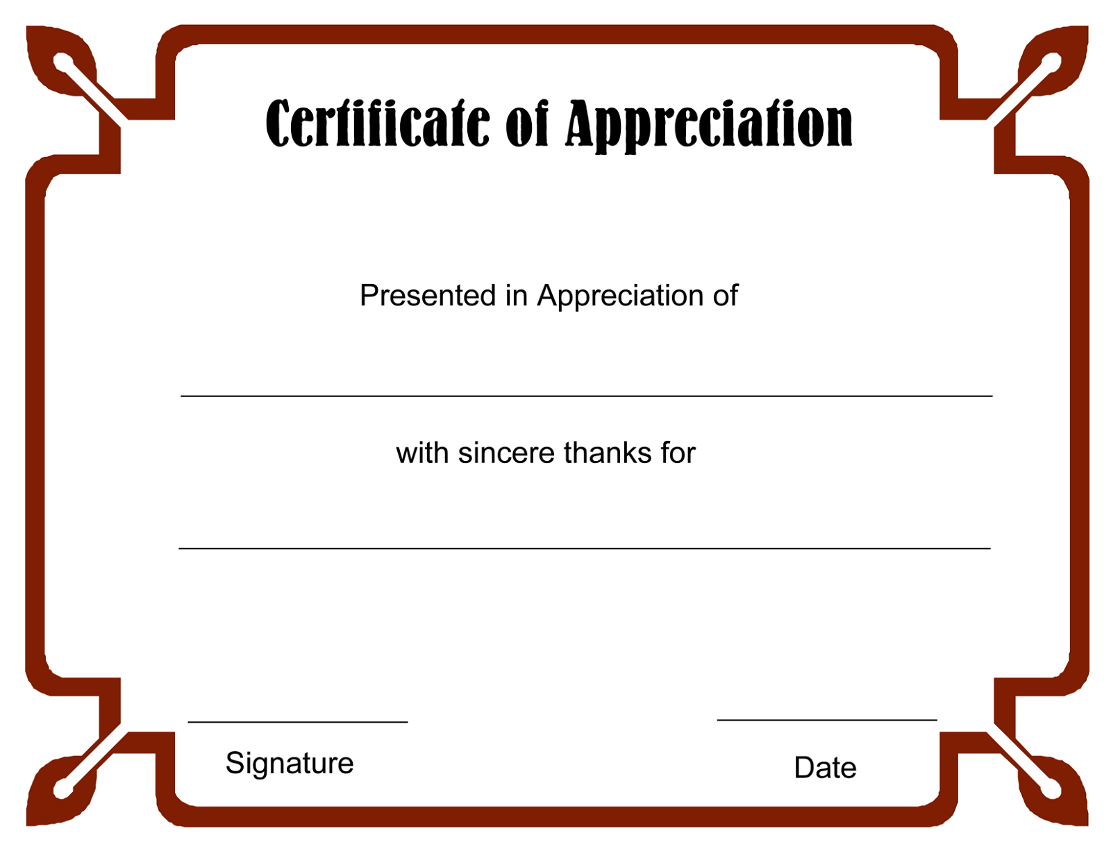 blank certificate templates 5