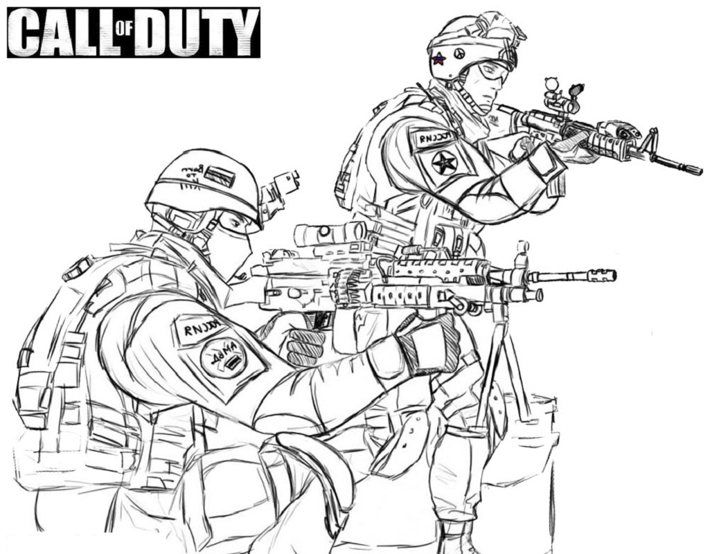 call of duty coloring pages 4