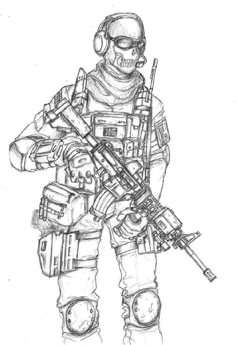 call of duty coloring pages 5