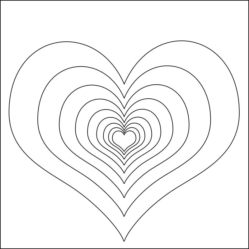 coloring pages of hearts and flowers 3