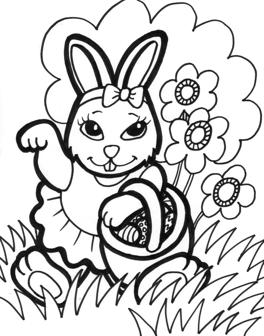 easter bunny coloring pages 5