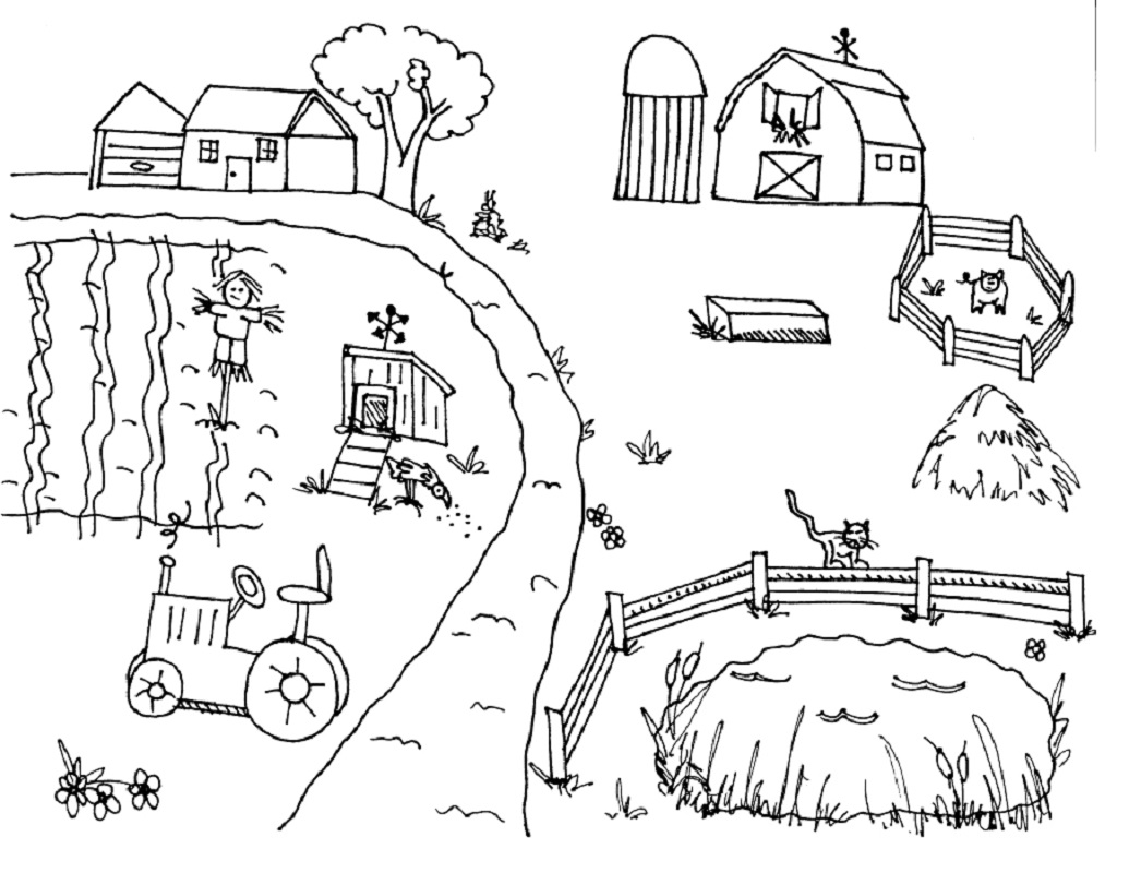farm coloring pages 1
