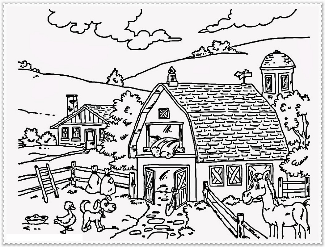 farm coloring pages 2