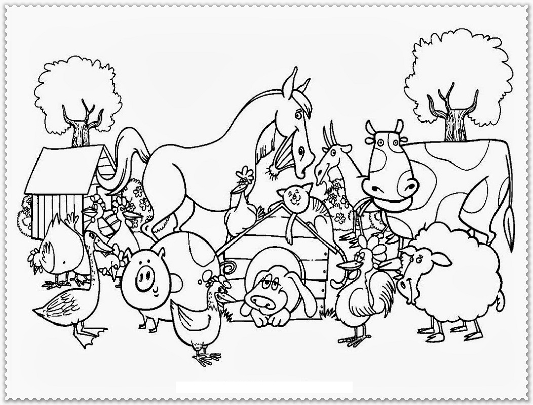 farm coloring pages 4