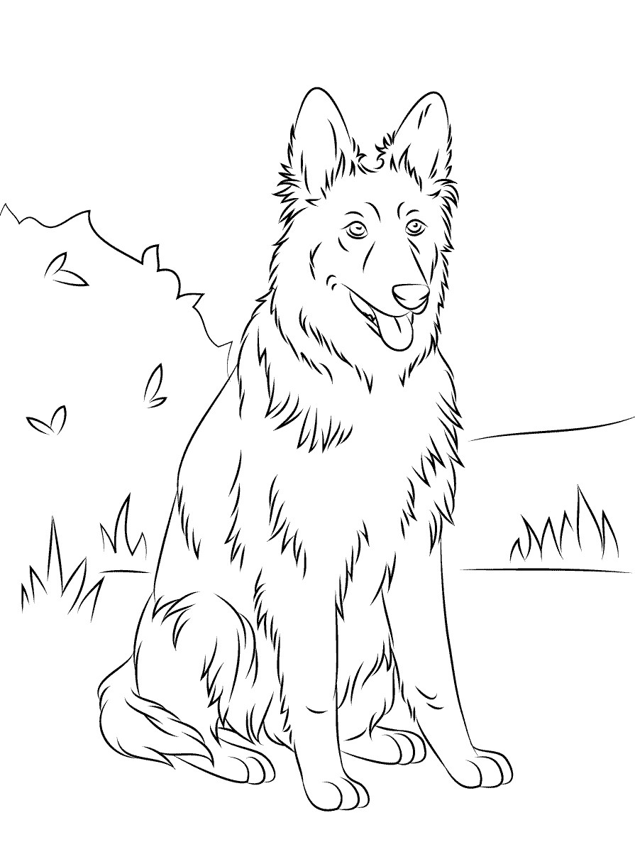 german shepherd coloring pages 3