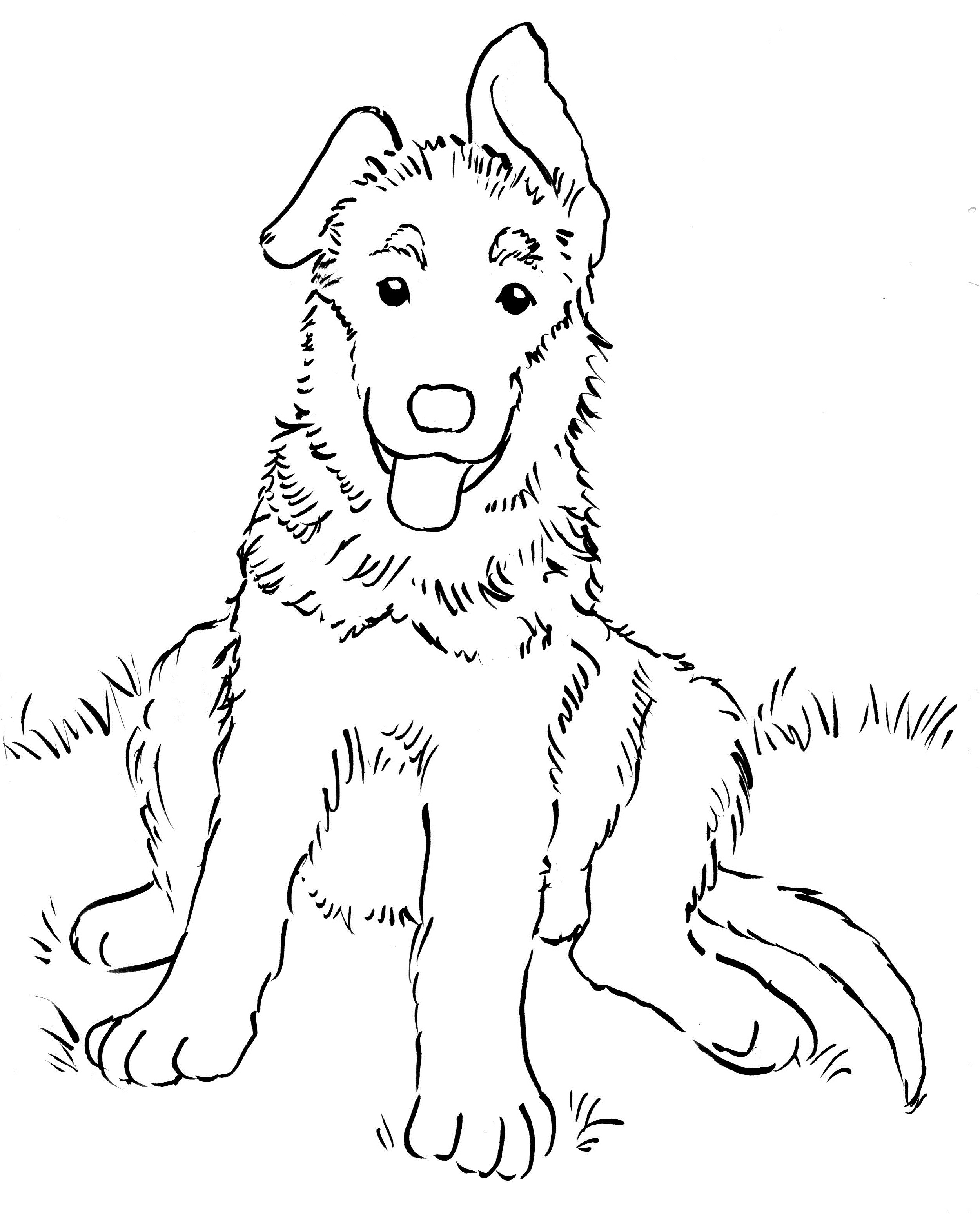 german shepherd coloring pages 5