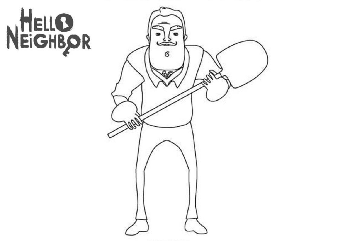 hello neighbor coloring pages 2