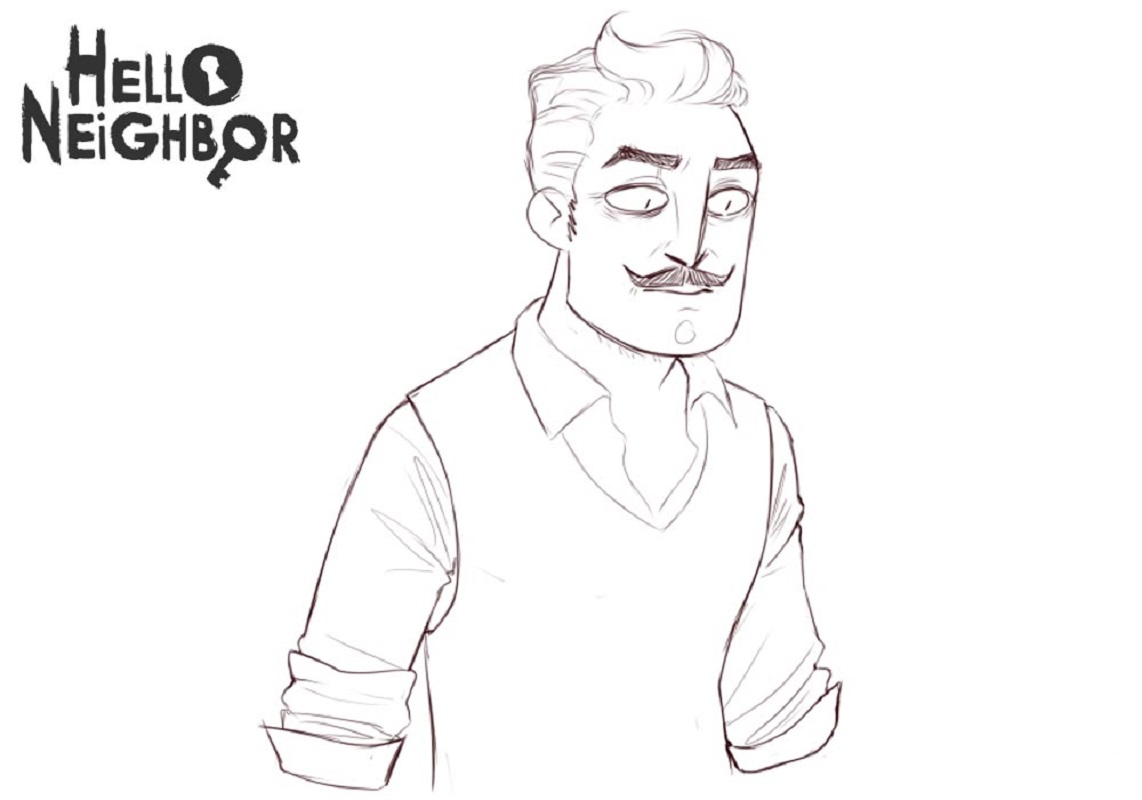 hello neighbor coloring pages 3
