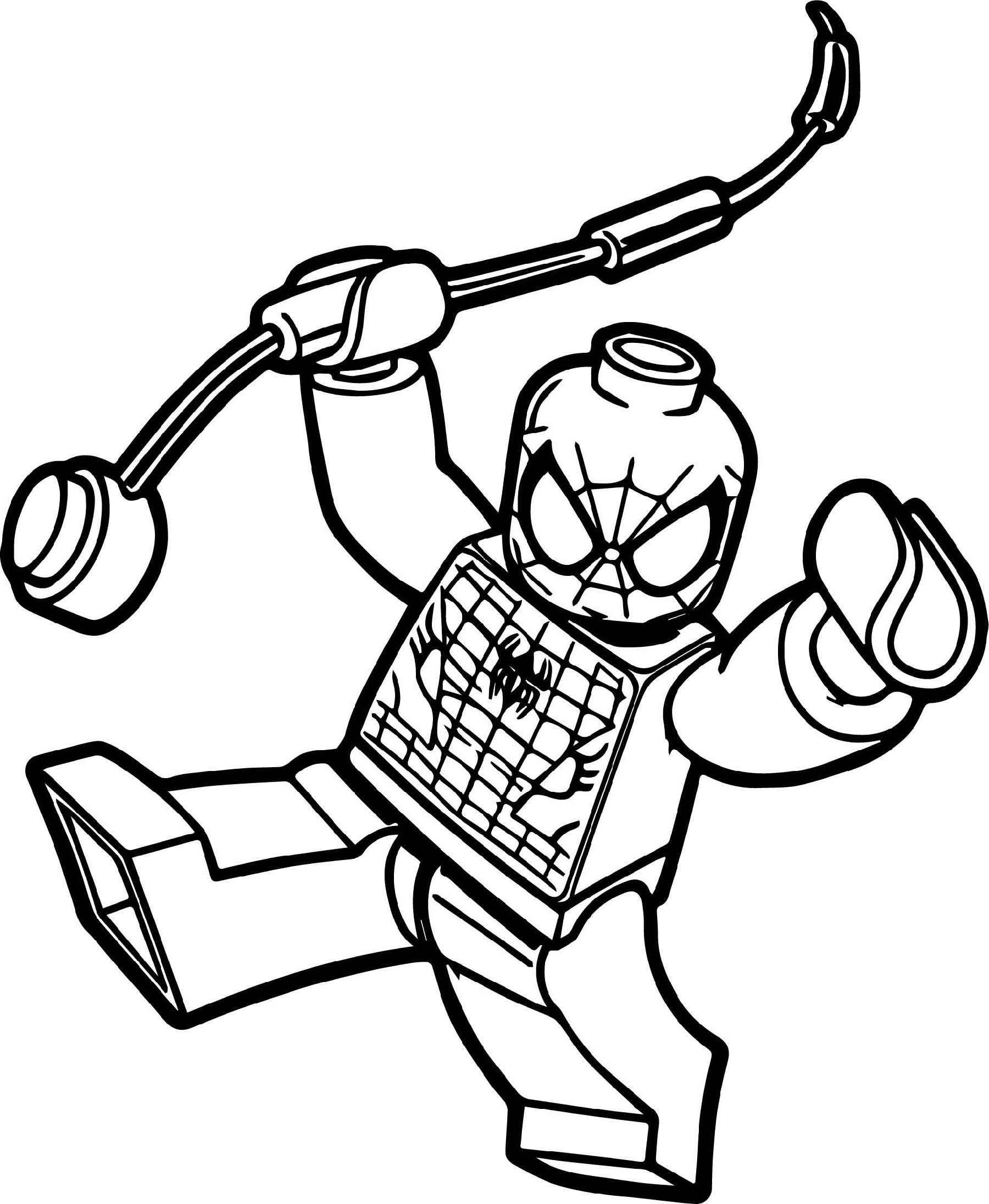 lego spiderman coloring pages 1