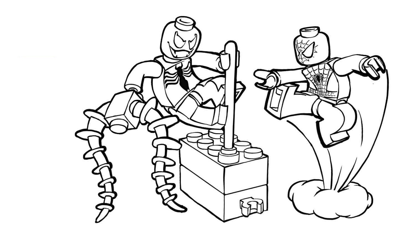 lego spiderman coloring pages 2