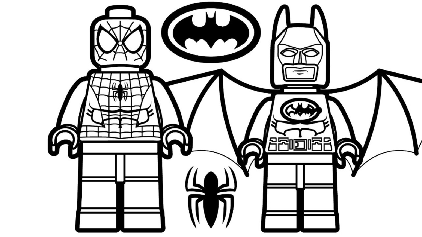 lego spiderman coloring pages 3