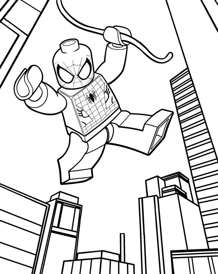 lego spiderman coloring pages 4
