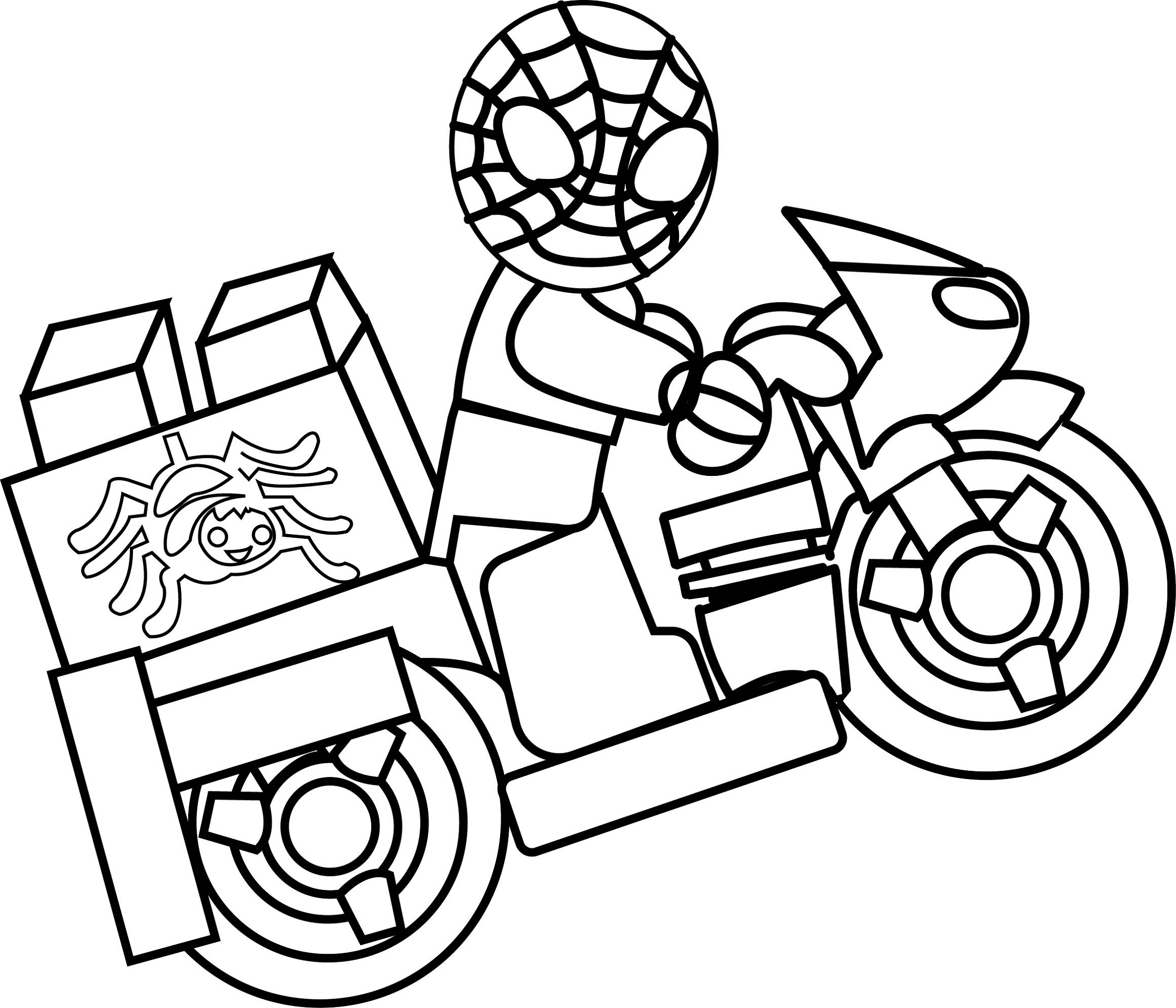 lego spiderman coloring pages 5