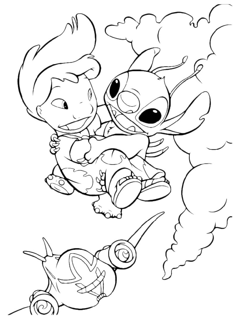 lilo and stitch coloring pages 2