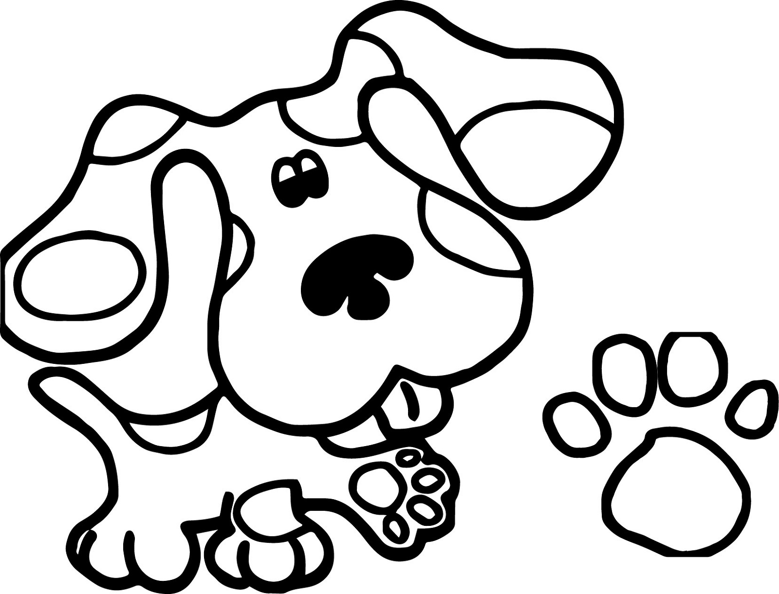 paw print coloring page 5