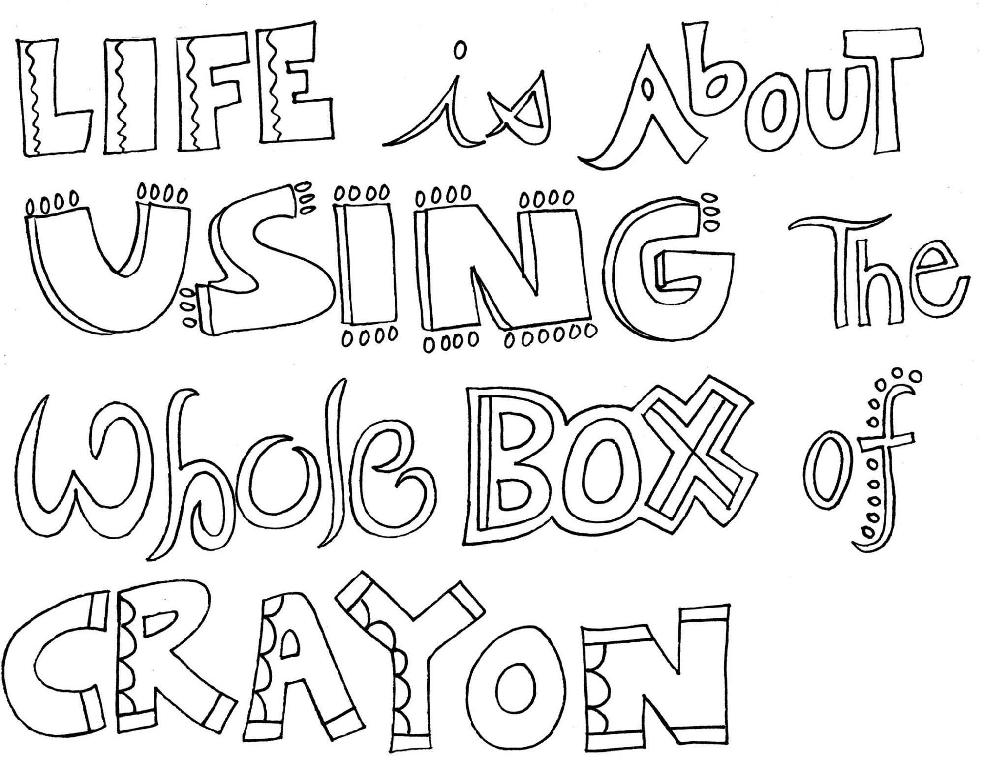 quote coloring pages 2
