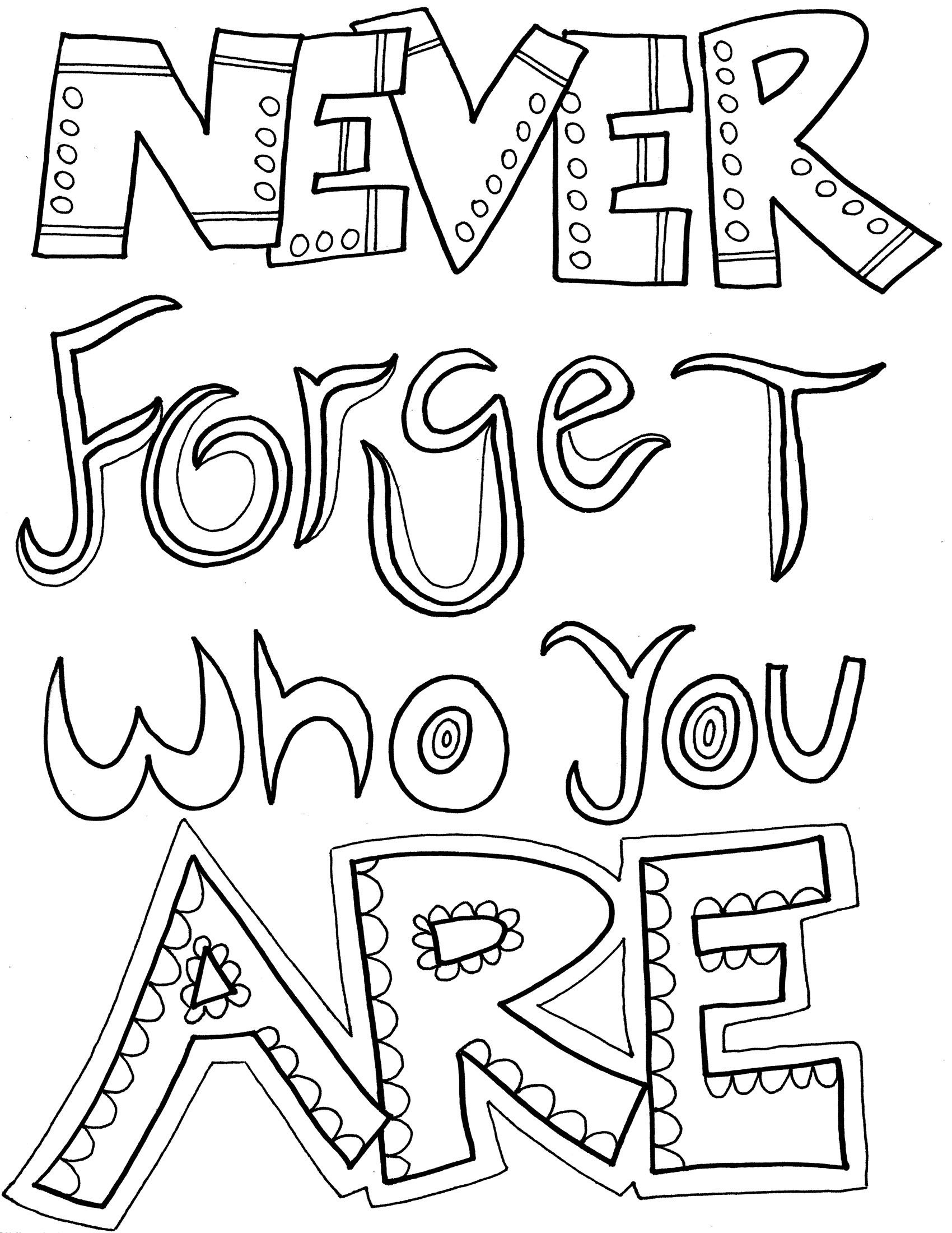 quote coloring pages 4