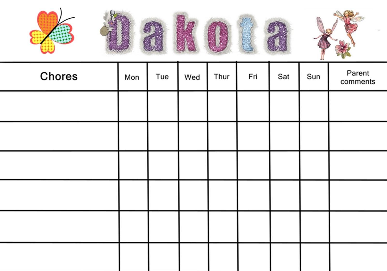 reward chart template 3