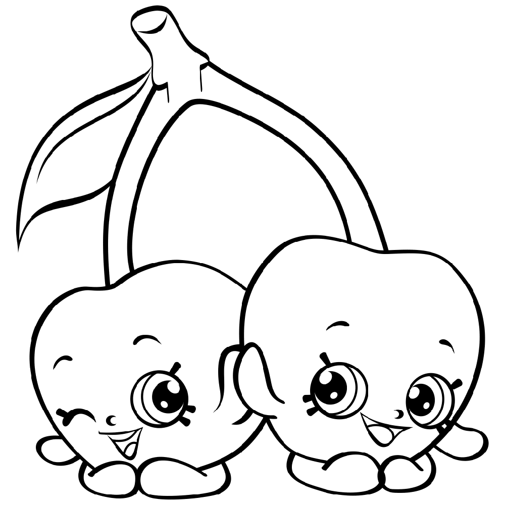shopkins coloring pages apple