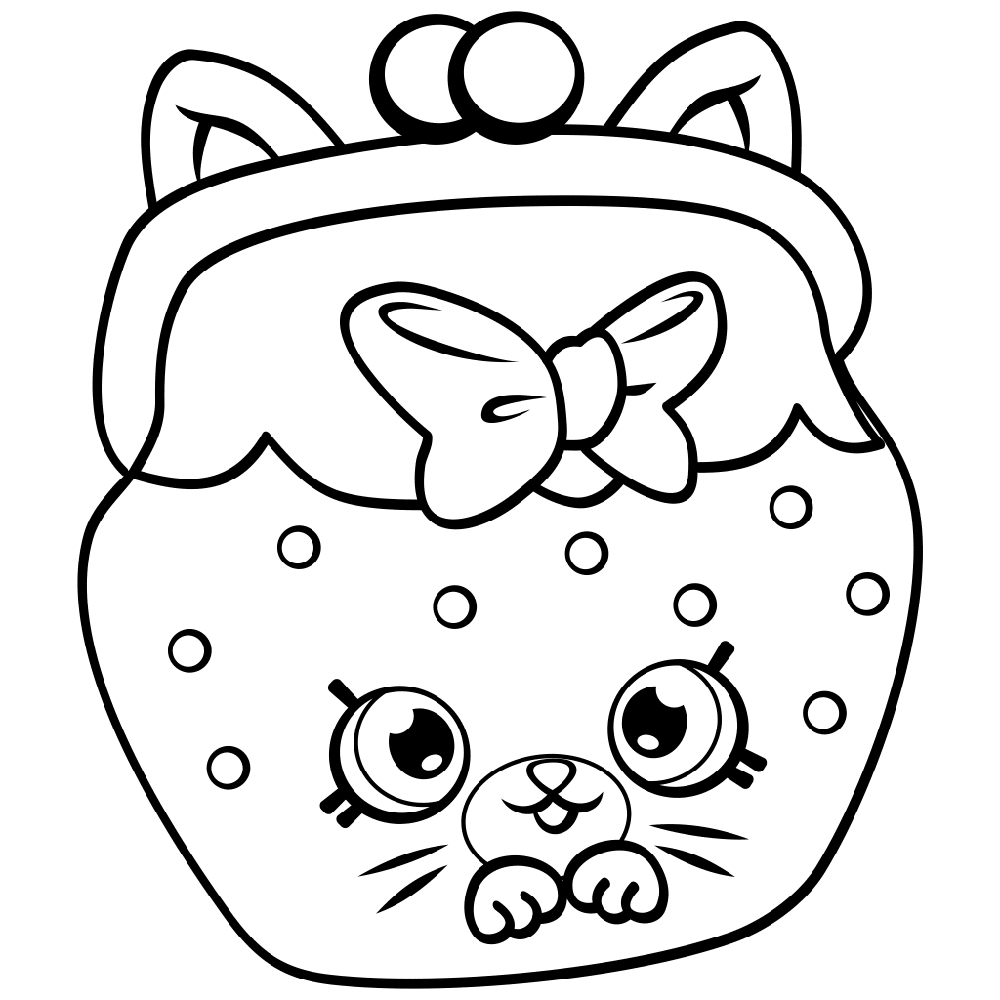 shopkins coloring pages cats
