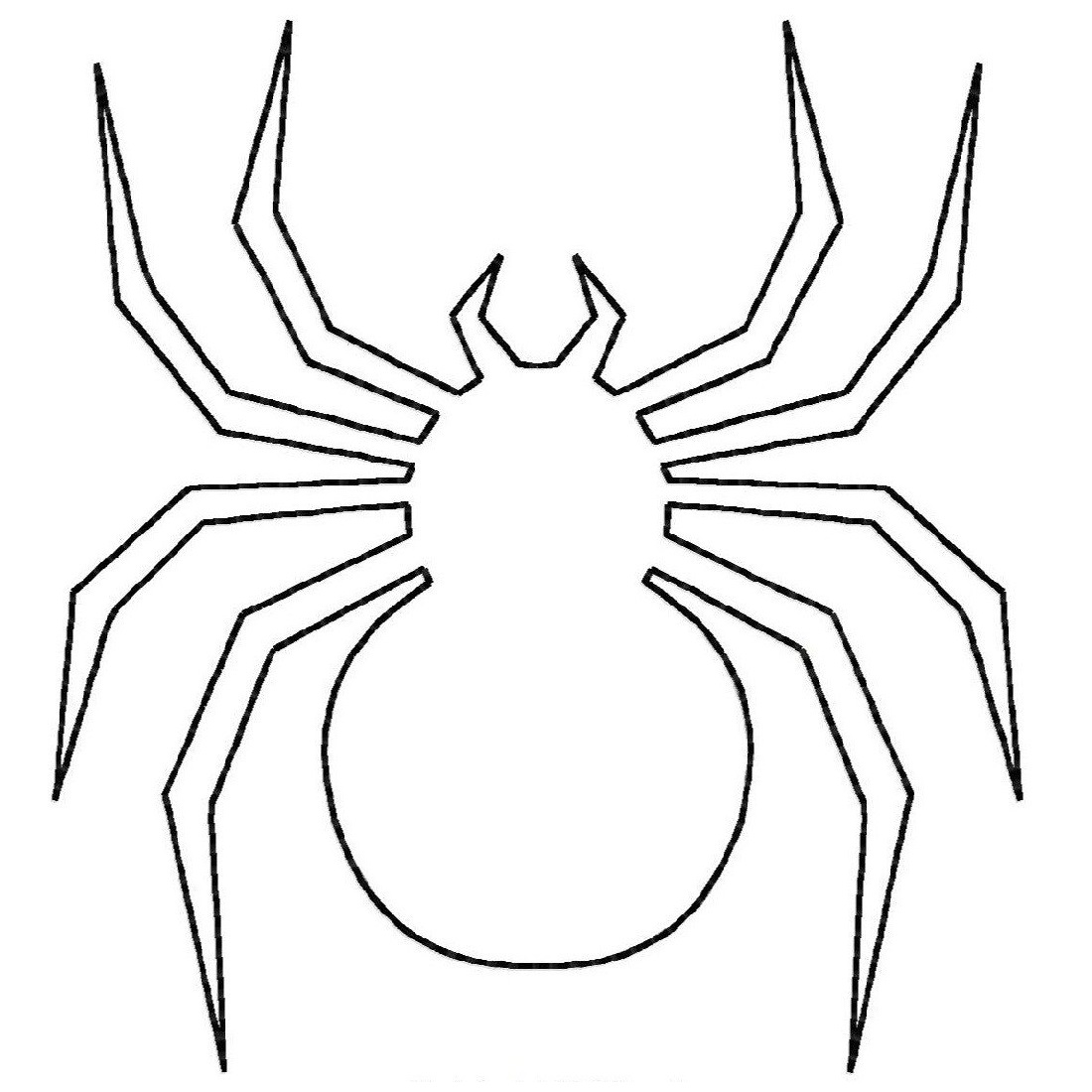 spider coloring pages five