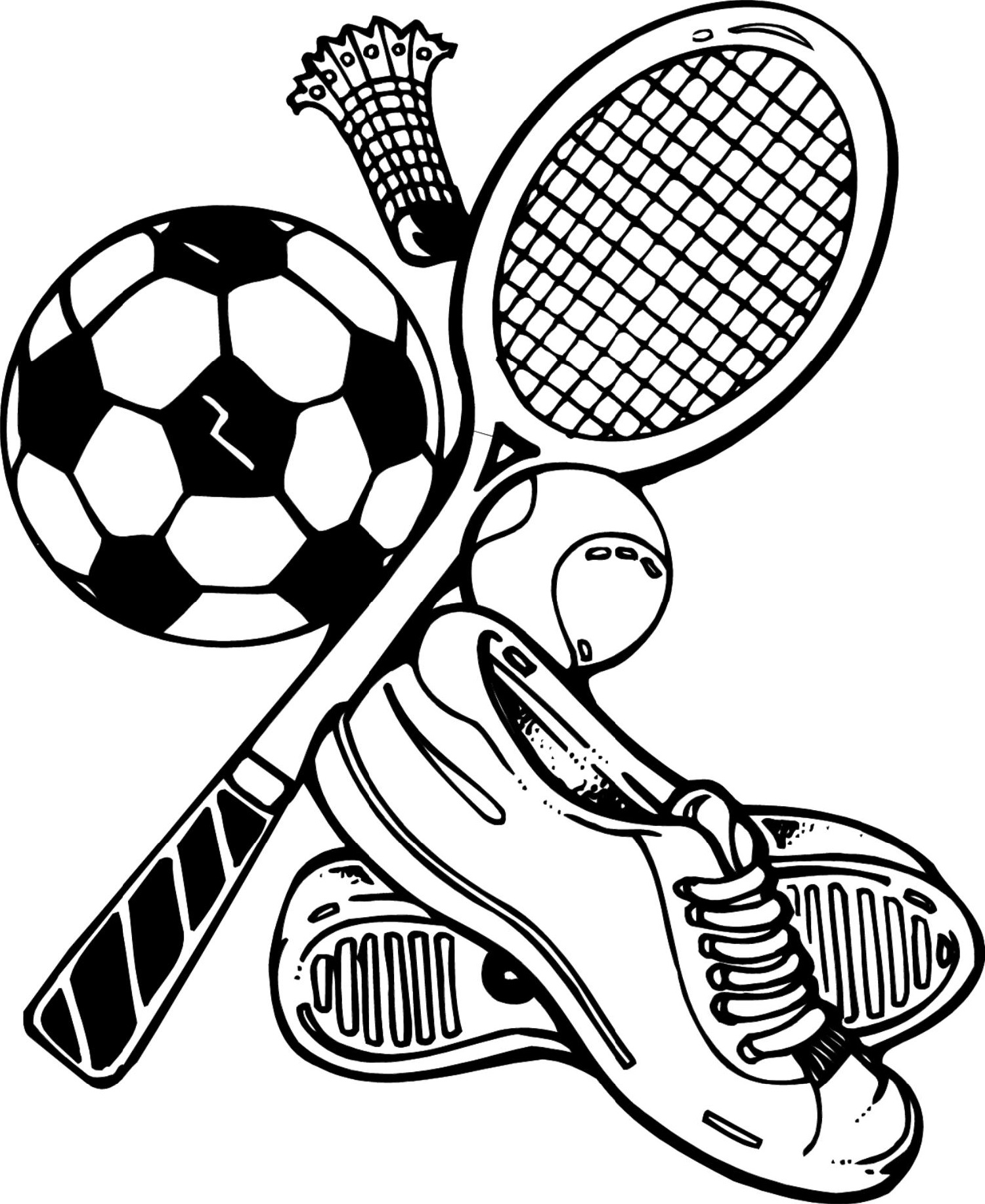 sports coloring pages 2