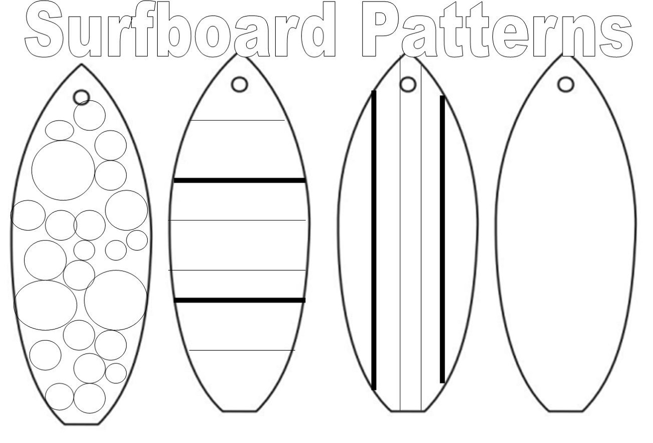 surfboard coloring page 1