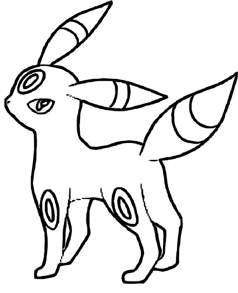 umbreon coloring pages 1